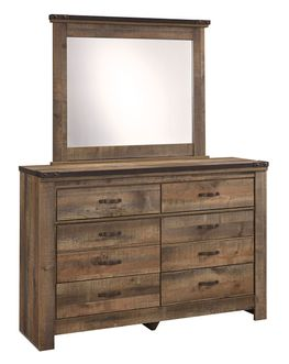 Trinell Youth Dresser and Mirror Set