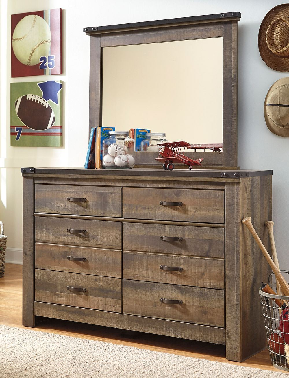 Picture of Trinell Youth Dresser and Mirror Set