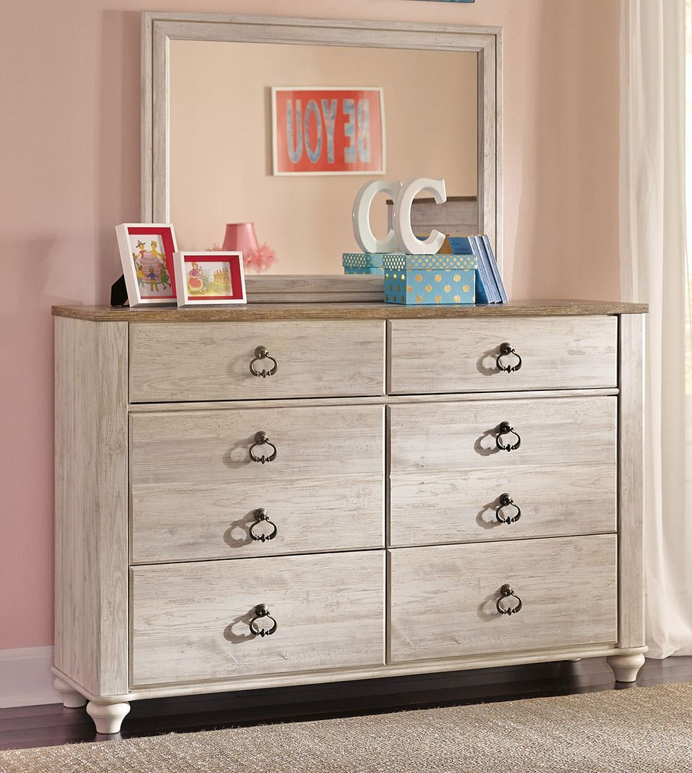 Picture of Willowton Youth Dresser and Mirror Set