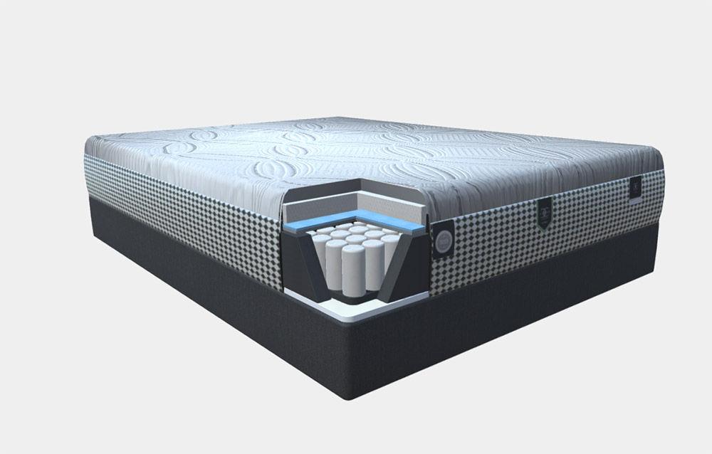 Picture of Restonic Hybrid Blend  Queen Restonic Semi-Flex Steel Foundation Low Profile Set