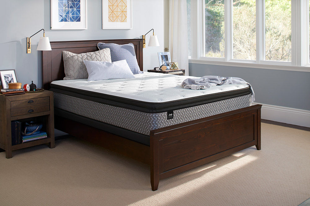 Picture of Sealy Response Deaton Plush PillowTop Queen StableSupport Low Profile Foundation