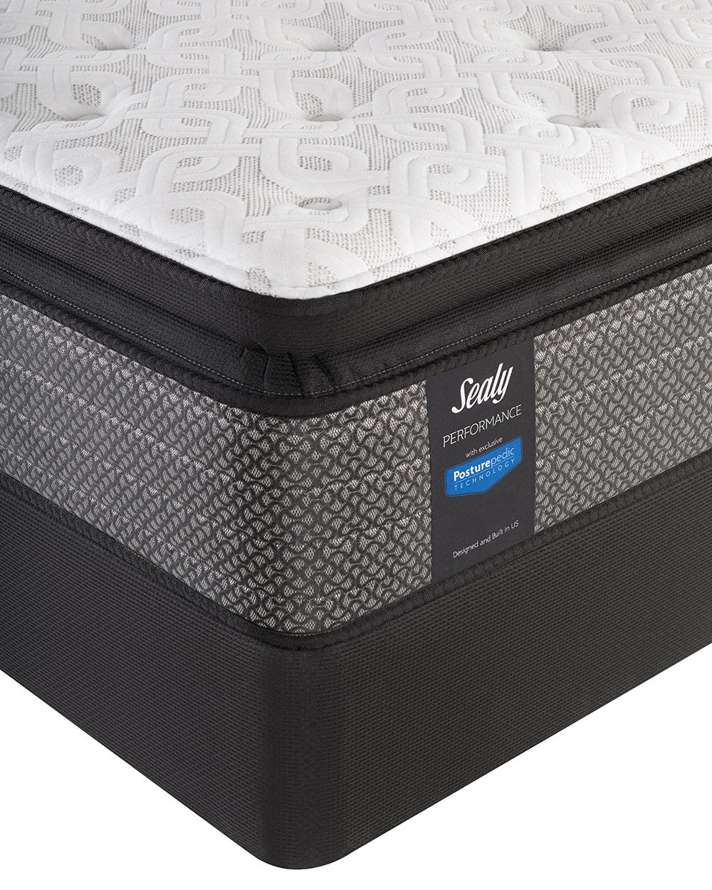 Picture of Sealy Response Garner Cushion Firm Eurotop King StableSupport Low Profile Foundation