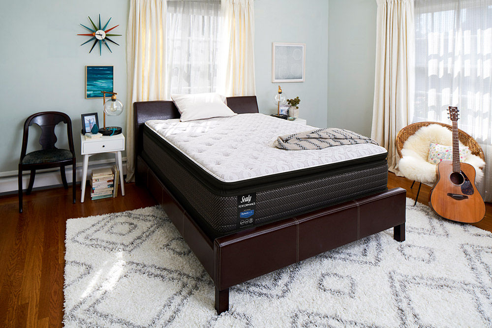 Picture of Sealy Response Kenaston Cushion Firm Pillowtop Queen StableSupport Low Profile Foundation