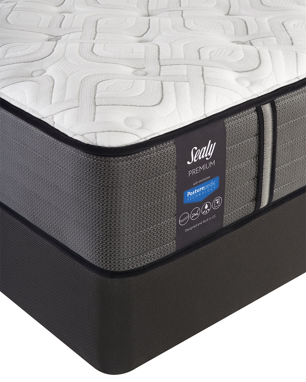 Picture of Sealy Response Spensley Plush TightTop Split Queen StableSupport Foundation
