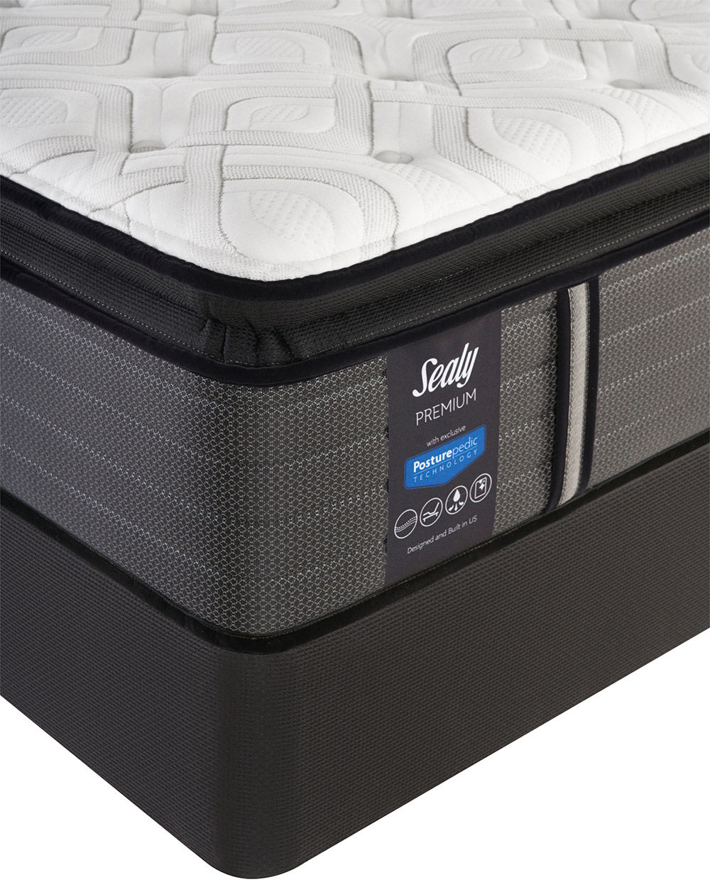 Picture of Sealy Response Spensley Plush PillowTop Queen StableSupport Low Profile Foundation