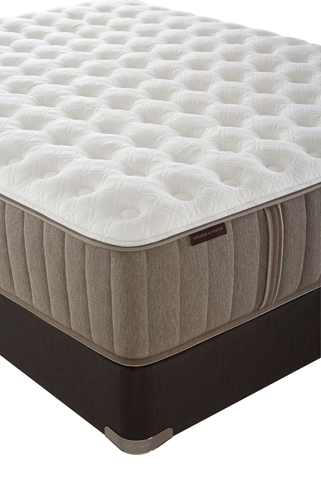 Picture of Stearns & Foster Scarborough Plush Pillowtop Split Queen Flat Foundation Set