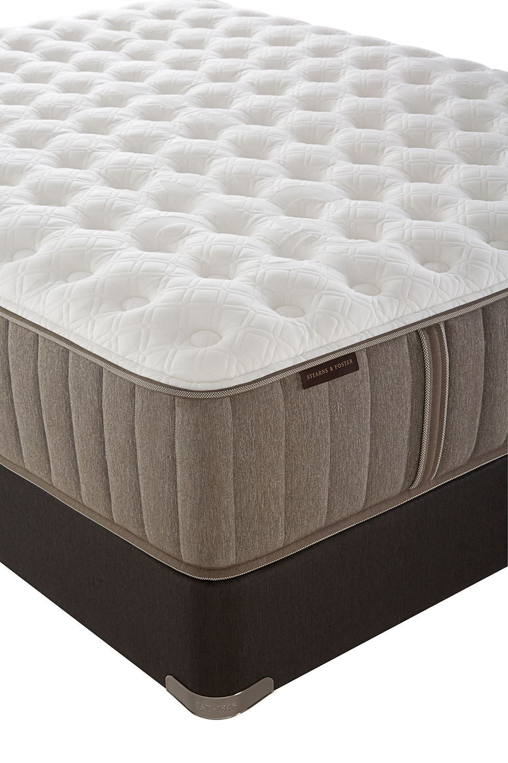 Picture of Stearns & Foster Scarborough Plush Pillowtop King Flat Low Profile Foundation Set