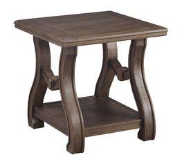Tanobay Gray Square End Table