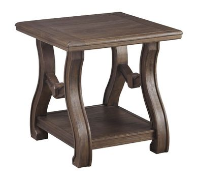 Tanobay Gray Square End Table