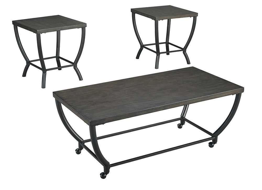 Picture of Champori Gray Brown Three Pack of Tables
