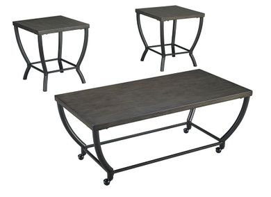 Champori Gray Brown Three Pack of Tables