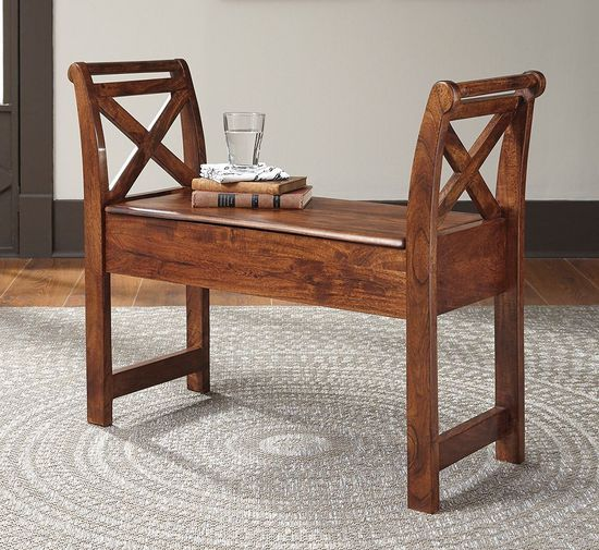 Picture of Abbonto Brown Accent Bench