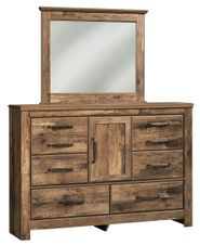 Blaneville Dresser and Mirror Set