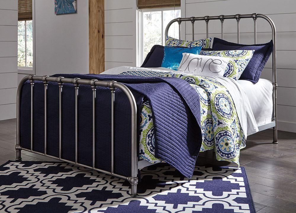 Picture of Nashburg Queen Metal Bed Set