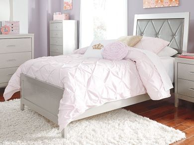 Olivet Twin Upholstered Panel Bed Set