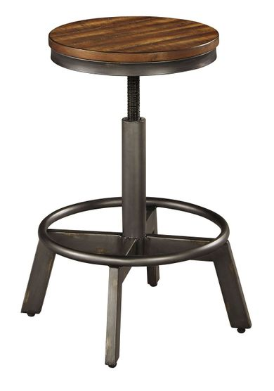 Torjin Brown and Gray Stool