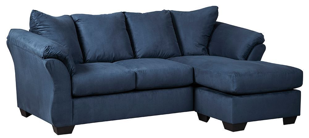 darcy blue sofa chaise unclaimed freight furniture. Black Bedroom Furniture Sets. Home Design Ideas