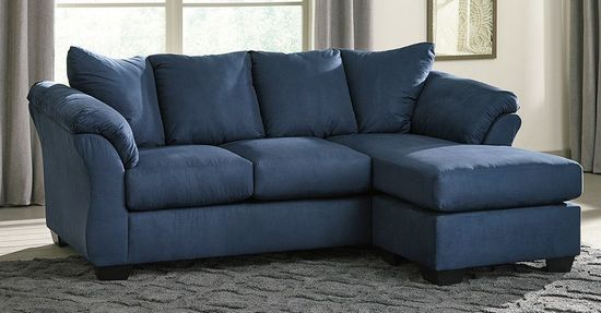 Picture of Darcy Blue Sofa Chaise
