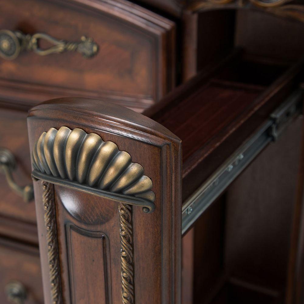 Picture of Bella Veneto Cognac Dresser and Mirror
