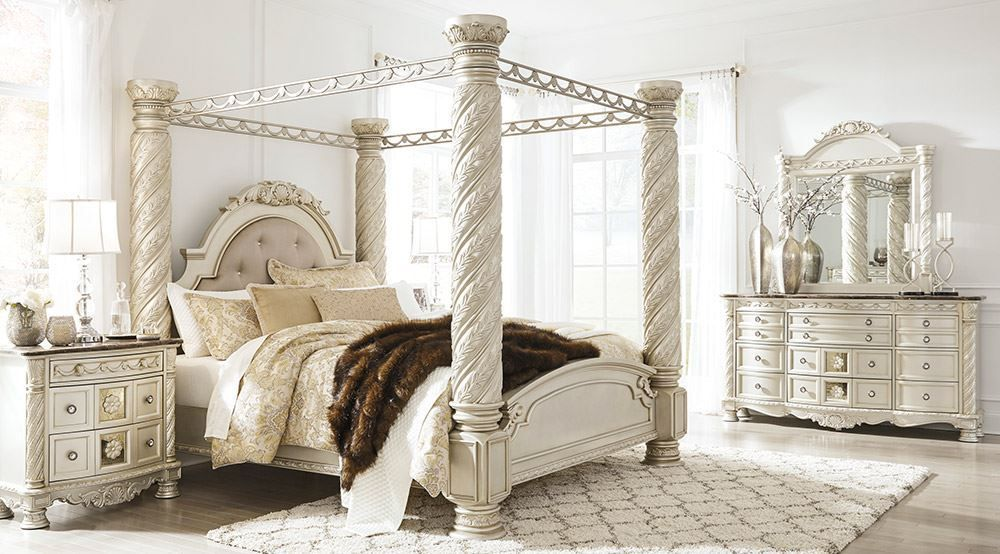 Picture Of Cimore King Canopy Bedroom Set