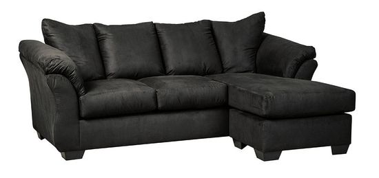 Picture of Darcy Black Sofa Chaise