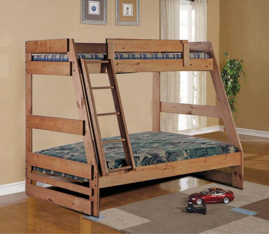 Picture of A Frame Twin over Full Bunk Bed
