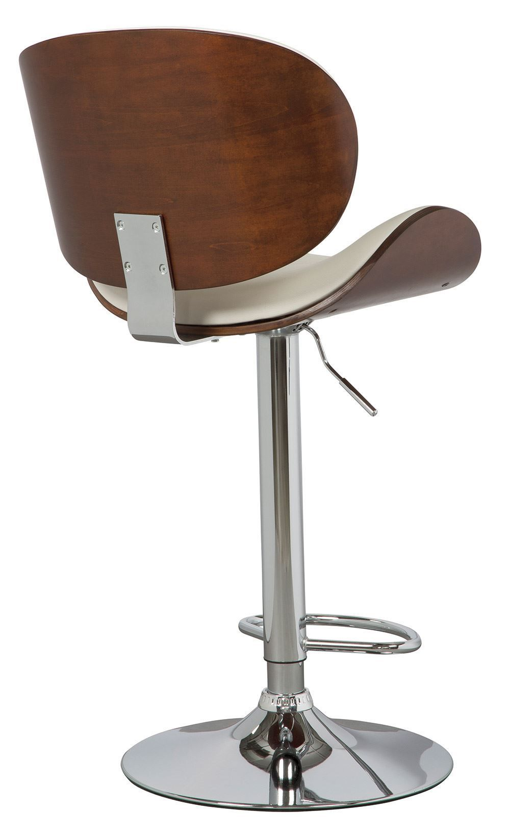 Picture of Gaslift Bone Brown Upholstered Swivel Barstool