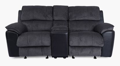 Ford Coal Glider Reclining Console Loveseat