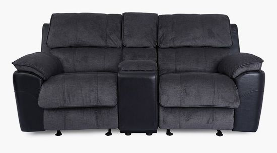 Picture of Ford Coal Glider Reclining Console Loveseat