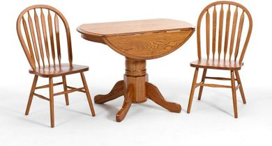 42 Inch Drop Leaf Table with Four Side Chairs