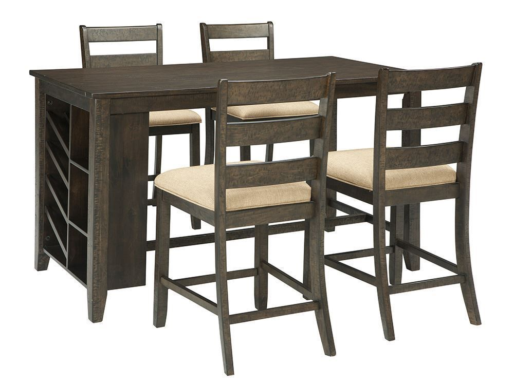 Picture of Rokane Rectangular Center Storage Table with Four Stools