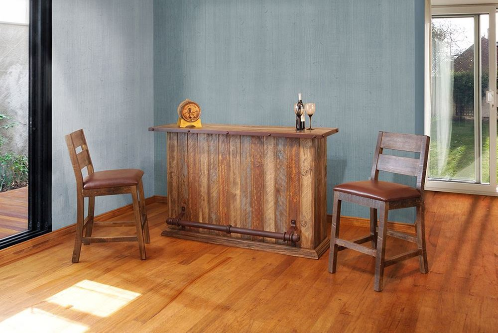 Picture of Pine Bar with Two Stools