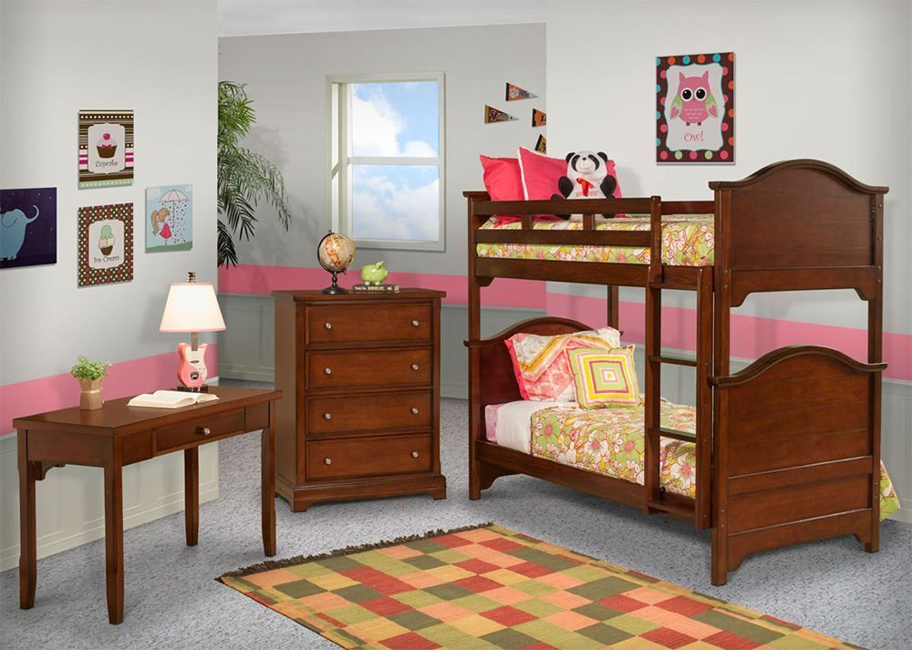 Picture of Seaside Twin Over Twin Panel Bunkbed