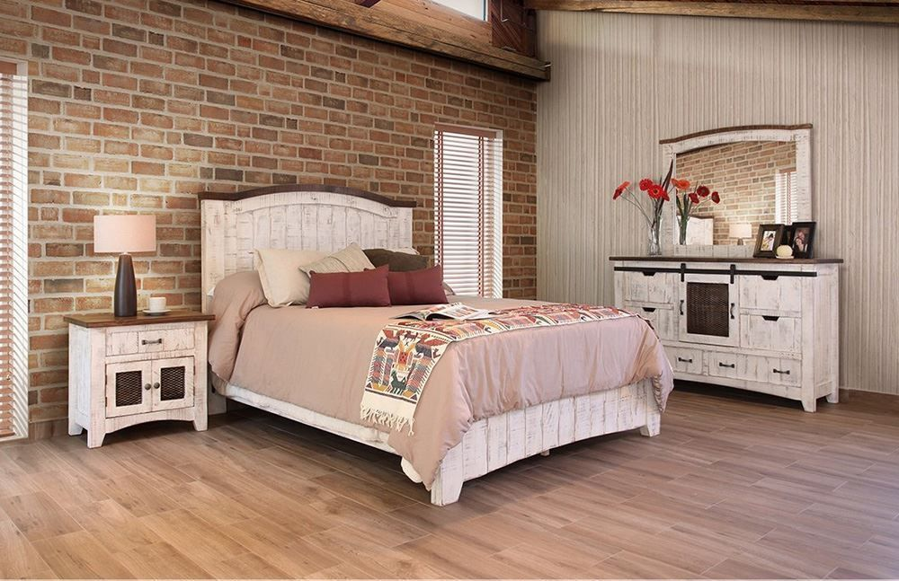 Pueblo White King Bedroom Set | Unclaimed Freight Furniture