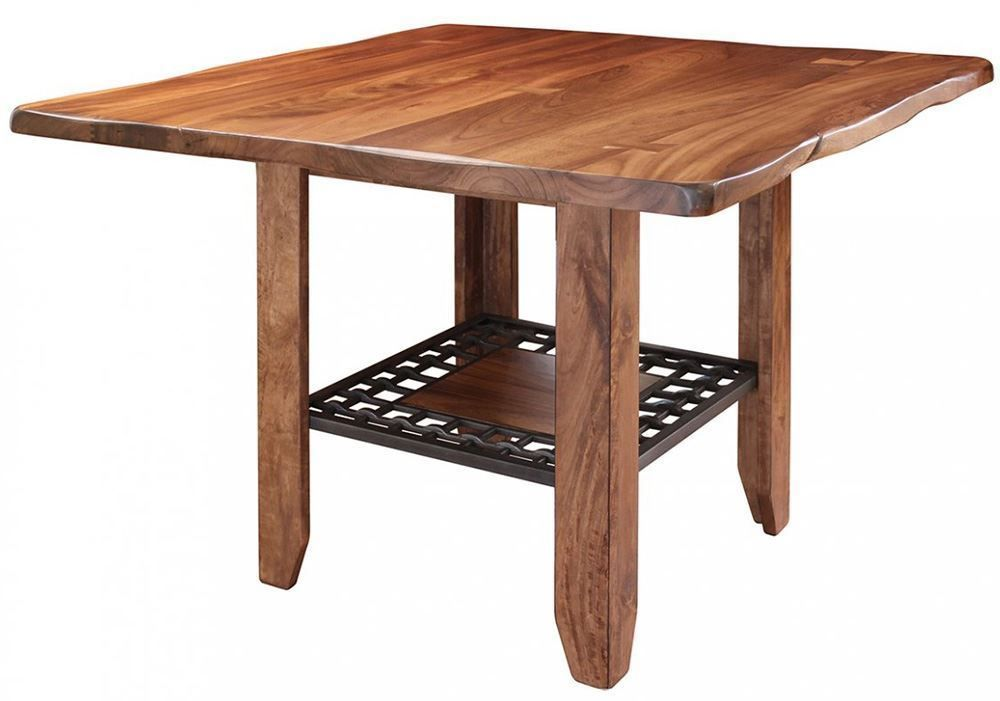 Picture of Parota Counter Table with Four Stools