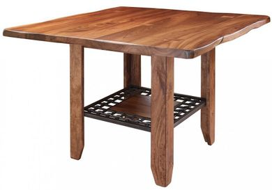 Parota Counter Table with Four Stools