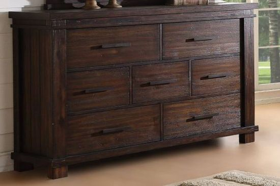 Picture of Easton Square Chocolate Drawer Dresser