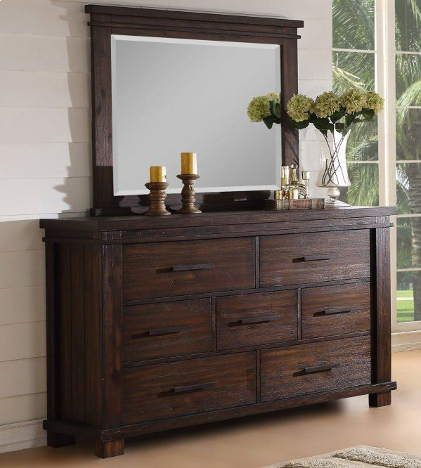 Picture of Easton Square Chocolate Dresser and Mirror Set