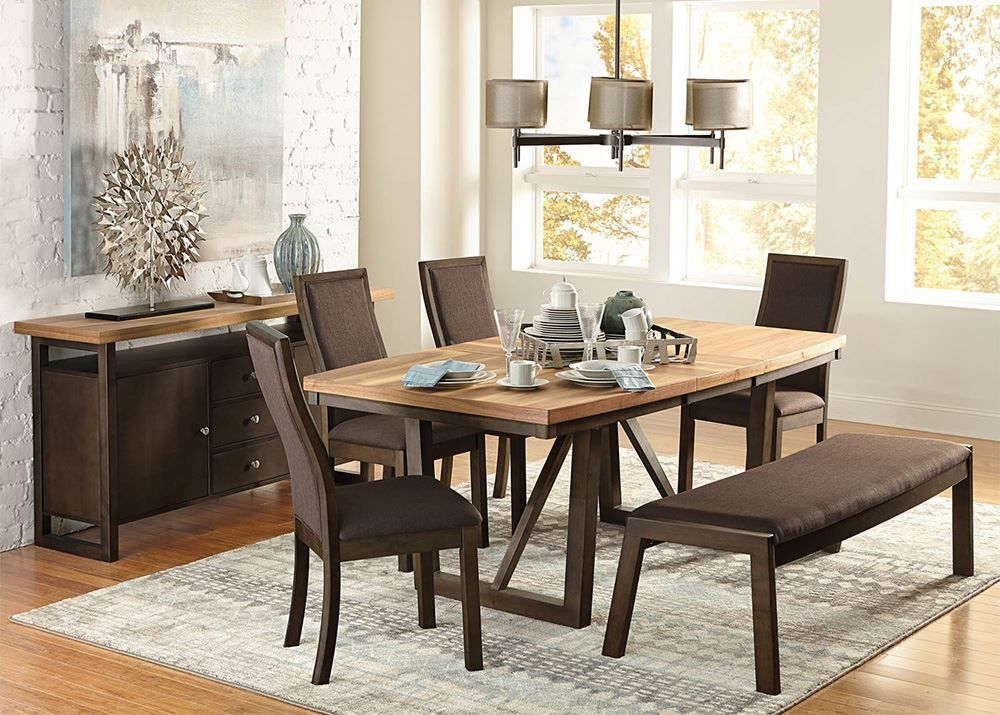 Picture of Carson Table with 4 Chairs and Bench