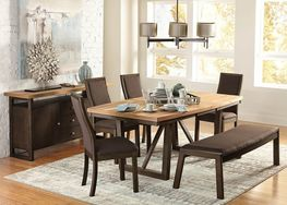 Carson Table with 4 Chairs and Bench