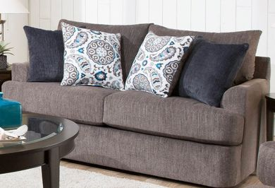 Grandstand Flannel Loveseat