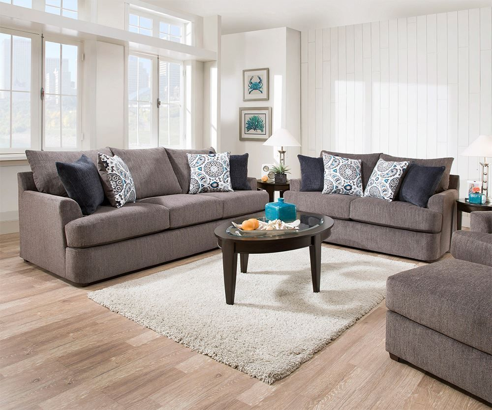 Picture of Grandstand Flannel Loveseat