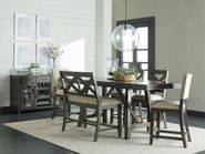 Omaha Grey Counter Height Table with Stools and Bench