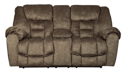 Capehorn Earth Reclining Console Loveseat