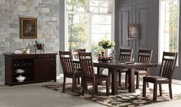 Audrey Dining Table with Four Side Chairs and Bench