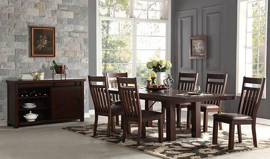 Picture of Audrey Dining Table with Four Side Chairs and Bench