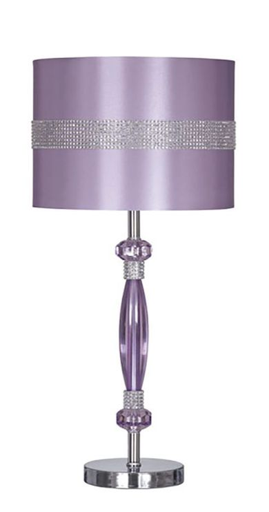 Nyssa Purple Metal Table Lamp