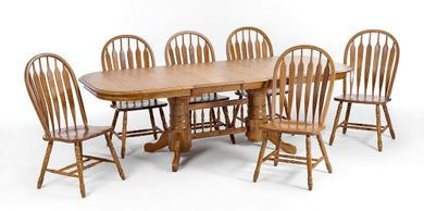 Laminate 42 Inch Table with Six Chairs