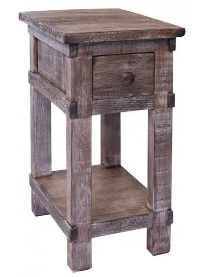 San Angelo Grey Chairside Table