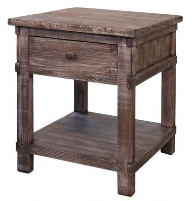 San Angelo Grey End Table